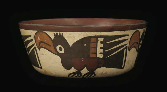 Nasca Culture, Peru, (100 BCE - 600 CE) Bowl with profile birds