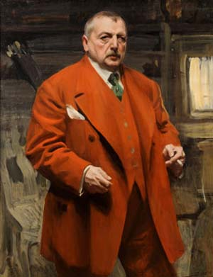 "<SPAN class=pie _extended=""true"">Anders Zorn: <EM>Self-Portrait in Red</EM>, 1915Oil on canvas47 ¼ x 35 7/16 in. (120 x 90 cm) Zornmuseet, MoraPhotograph by Patric Evinger.</SPAN>"