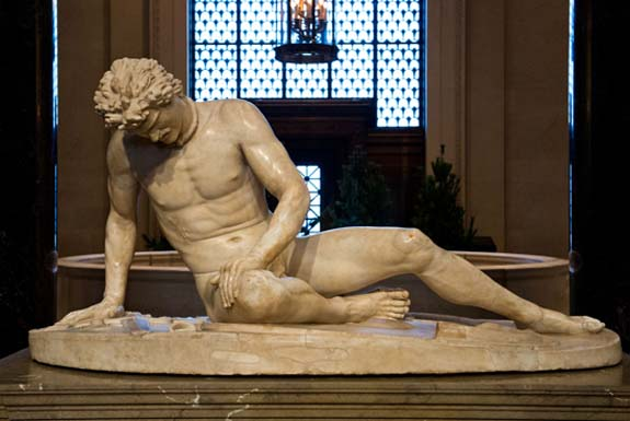 "The ancient Roman sculpture ""Dying Gaul"""