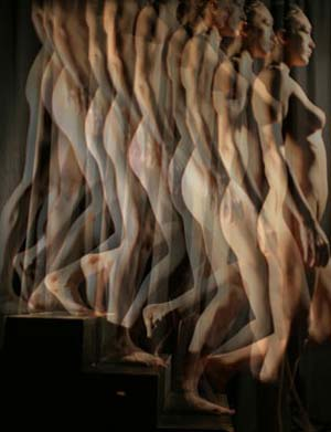 "<SPAN class=pie _extended=""true"">Kate O'Donovan Cook: <EM>Nude Descending the Staircase,</EM> 2010 Digital C print.Photo: Stephen Haller Gallery</SPAN>"