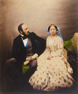 <P>The Prince and the Queen, 1854Salted paper print, hand colouredRoger Fenton—Royal Collection Trust  © Her Majesty Queen Elizabeth II 2013</P>