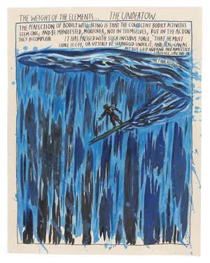 Raymond Pettibon<EM>Untitled (The Weight of the Elements...),</EM> 1994Watercolor and ink on paper13 7/8 x 10 13/16 inches34.9 x 27.3 cmCourtesy of Venus Over Manhattan, New York