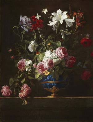Willem van Aelst: <EM>Still Life with Flowers,</EM> undatedOil paint, 79 x 64 cm© Rau Collection for UNICEF, ColognePhoto: Mick Vincenz, Essen