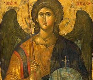 <EM>Icon of the Archangel Michael,</EM> Byzantine, from Constantinople, a.d. 1300–1350Tempera and gold on woodCourtesy of the Byzantine and Christian Museum, Athens