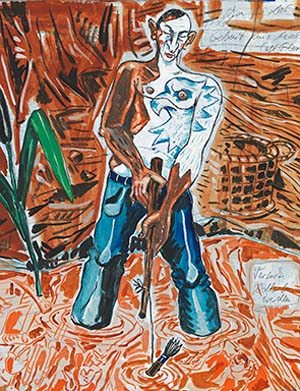 "<SPAN class=pie _extended=""true"">Jörg Immendorff: <EM>Birth of an painter.Trying to become an Eagle</EM>, 1990Loan of the Stephan und Susanne Böninger Collection, München  © The Estate of Jörg Immendorff, Courtesy Galerie Michael Werner Märkisch Wilmersdorf, Köln & New York.</SPAN><BR _extended=""true"">"