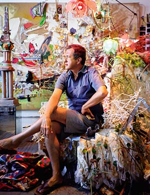 "<SPAN class=pie _extended=""true"">Mario Testino in Elliott Hundley's studio, New York, 2008 Photographed by Elliot Hundley</SPAN>"