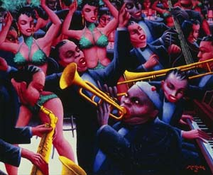 "<P>Archibald Motley: Hot Rhythm, 1961, Photo courtesy of Duke University's Nasher Museum of Art</P> • <P><A href=""http://www.newsobserver.com/2014/02/01/3580422/archibald-motley-shows-chicago.html#storylink=cpy""></A> </P>"
