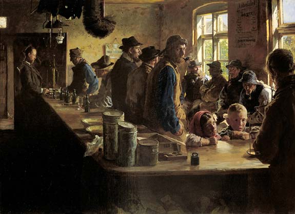P.S. Kr�yer, At the victualler�s when there is no fishing, 1882