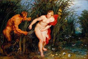 Peter Paul Rubens: <EM>Pan and Syrinx</EM>, 1617Oil on panel40 x 61 cm.Museumslandschaft Hessen KasselGemäldegalerie Alte Meister, KasselPhoto: Museumslandschaft Hessen KasselGemäldegalerie Alte Meister/Ute Brunzel