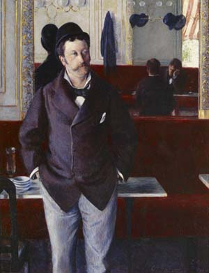 Gustave Caillebotte, At a Café, 1880 • oil on canvas, Musée d'Orsay, Paris • On deposit at Musée des Beaux-Arts de Rouen • © RMN-Grand Palais/Art Resource, NY