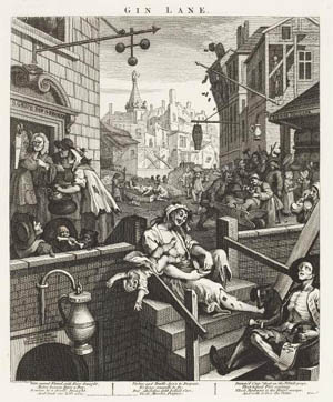 <P>William Hogarth (1697-1764): <EM>Gin Lane,</EM> 1751Etching and Engraving, 39 x 32,3 cmStädel Museum, Frankfurt am MainPhoto: Städel Museum – ARTHOTHEK</P>