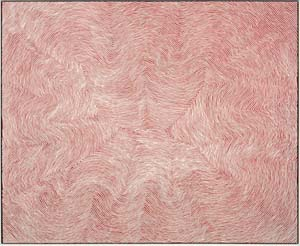 Warlimpirrnga Tjapaltjarri: <EM>Untitled,</EM> 2014Photo: Courtesy of Salon 94