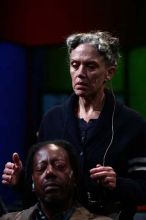 Philip Moore and Kate Valk in <EM>The Room</EM> Photo: Paula Court