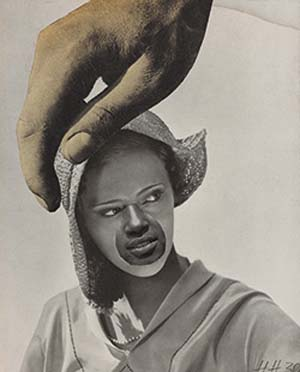 Hannah Höch: <EM>Untitled (Large Hand Over Woman's Head),</EM> 1930photomontageCollection of the Art Gallery of Ontario, Toronto, Purchase 2012© Estate of Hannah Höch/SODRAC (2016)