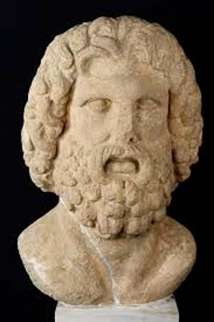 Α colossal head of Zeus (2nd century AD), a finding of Temple of Olympian Zeus.