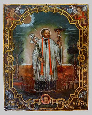 Unidentified artist, active in South America. <EM>Saint Francis Xavier</EM>, 18th centuryCarl and Marilynn Thoma Collection.