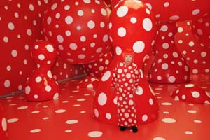 "Yayoi Kusama: <EM>Kusama with Dots Obsession</EM>, 2012Installation View: Kusama's solo exhibition ""YAYOI KUSAMA ETERNITY OF ETERNAL ETERNITY"" at Matsumoto City Museum of Art, Nagano, Japan.© Yayoi Kusama, courtesy Ota Fine Arts, Tokyo/Singapore, Victoria Miro Gallery, London, David Zwirner, New York"