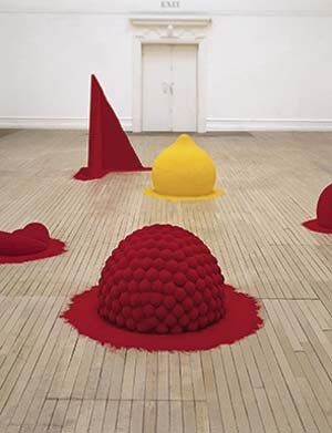 Anish Kapoor: <EM>To Reflect an Intimate Part of the Red</EM>, 1981. Mixed media and pigment200 x 800 x 800 cm