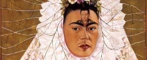 Frida Kahlo: <EM>Diego on my mind</EM> (Self portrait as Tehuana) 1943 (detail). The Jacques and Natasha Gelman Collection of Mexican Art © 2016 de Mexico Diego Rivera Frida Kahlo Museums Trust, Mexico DF.