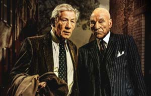 Ian McKellen and Patrick Stewart in <EM>No Man's Land</EM>