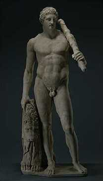 Statue of the Lansdowne Herakles  • Unknown, sculptor; • after the School of Polykleitos  • Roman, about A.D. 125  • Marble; H: 193.5 cm • Photo: Courtesy of J. Paul Getty Museum