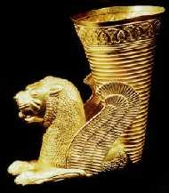 Lion Rhyton • Ecbatana (Hamadan, west-central Iran) • 500-450 BC National Museum of Teheran • Photo Courtesy of National Museum of Teheran  •