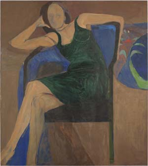 Richard Diebenkorn: <EM>Seated Woman</EM>, 1967Oil on canvasCollection of Gretchen and John Berggruen, San Francisco© the Richard Diebenkorn Foundation.