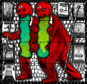"<P>Gilbert & George, <EM>BEARD RUN</EM> from ""THE BEARD PICTURES,"" 2016. © Gilbert & GeorgeCourtesy White Cube.</P>"