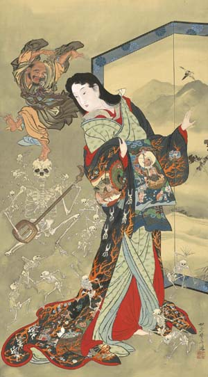 <P>Kawanabe Kyōsai: <EM>Hell Courtesan</EM>, 1885/89Weston Collection</P>