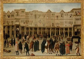 <EM>View of the Rua Nova dos Mercadores 1570-1619</EM>Oil on canvas London, Kelmscott Manor Collection, The Society of Antiquaries of London © By kind permission of The Society of Antiquaries of London, Kelmscott Manor
