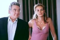 Julia Roberts as Erin Brockovich and Albert Finney as Ed Masry