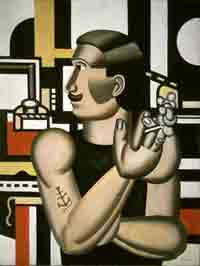 Fernand Léger : The Mechanic 1920 • Oil on canvas 45 1/2 x 34 1/2 in. •  (115.5 x 88.5 cm) • National Gallery of Canada, OttawaPhoto courtesy of the Los Angeles County Museum of Art