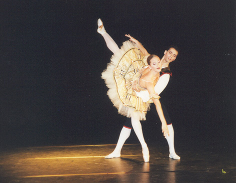 Emilie Cozette and Christophe Duquenne in Les Fleurs du Mal