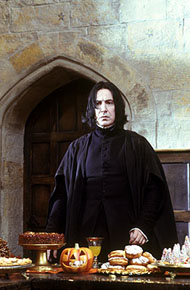 Alan Rickman as Professor Snape in Warner Brothers' Harry Potter and The Sorcerer's Ston