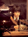 Daniel Radcliffe as Harry Potter in Warner Brothers' Harry Potter and The Sorcerer's Stone