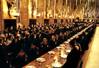 The Great Hall in Warner Brothers' Harry Potter and The Sorcerer's Stone