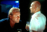 Ray Winstone as Gal Dove and Ben Kingsley as Don Logan in Sexy Beast